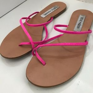 Steve Madden Wise Leather Strappy Slide Sandals